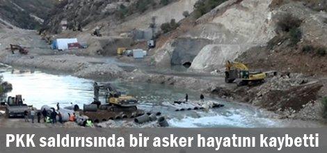 Silvan Barajına PKK'lilerin saldırısında bir asker hayatını kaybetti