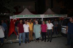 Iğdır Üniversitesi demokrasi nöbetine destek verdi