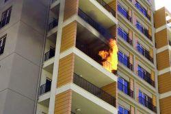 Bursa Nilüfer'de lüks binada çıkan yangın korkuttu foto
