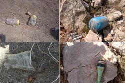 Karayoluna yerleştirilmiş 700 kilo patlayıcı bulundu