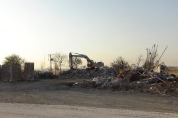Üçyoldaki Bölge Trafik Denetleme İstasyonu yıkıldı video foto