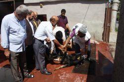 Yusufi Aileler Mersin'de kurban kesimine katıldı