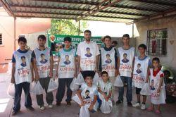 Yasinler Mersin'de kurban eti dağıttı
