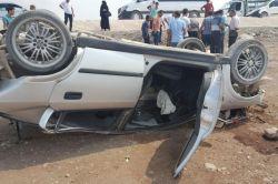 Aşırı hız yapan otomobil takla attı: 2 yaralı