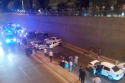 Şanlıurfa Uçaksavar Köprüsünde düğün konvoyunda zincirleme kaza