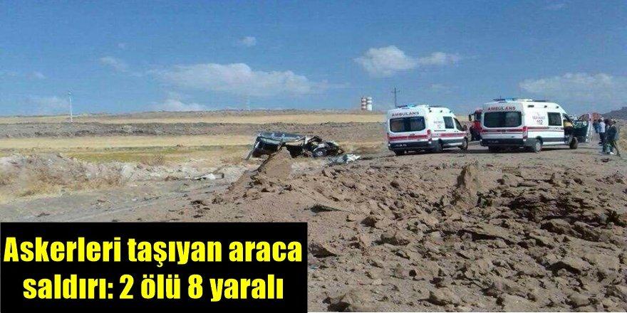 Derik'te askerleri taşıyan araca saldırı: 2 ölü 8 yaralı