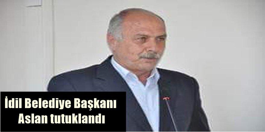 İdil Belediye Başkanı Aslan tutuklandı