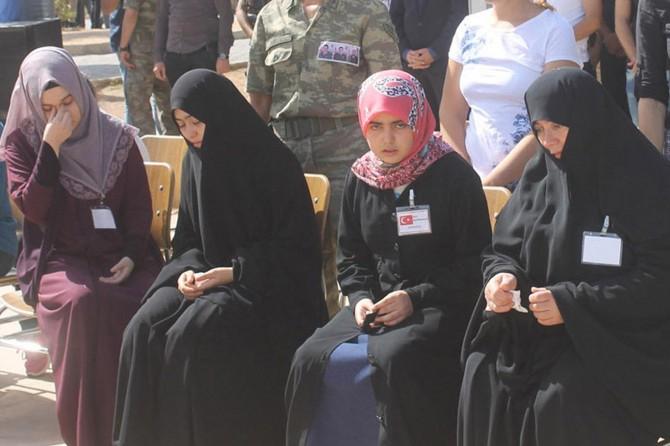 Derik'teki saldırıda hayatını kaybeden askerler için tören düzenlendi