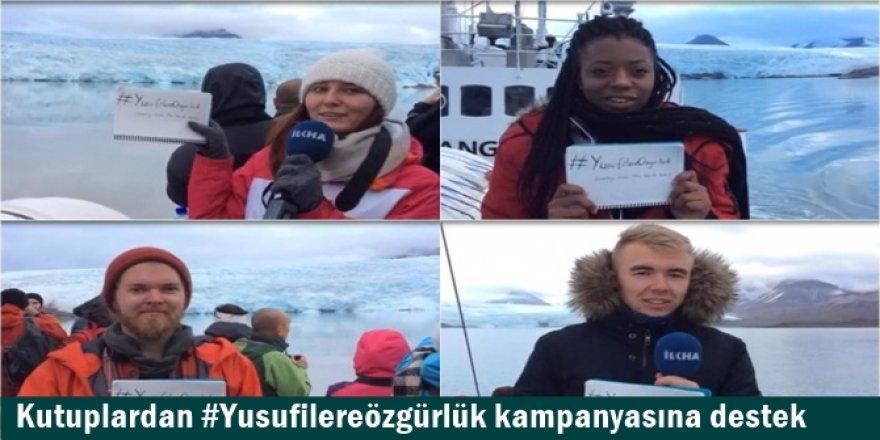 Kutuplardan #Yusufilereözgürlük kampanyasına destek