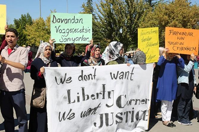 ABD'nin Gaziantep Üniversitesindeki ofisi protesto edildi