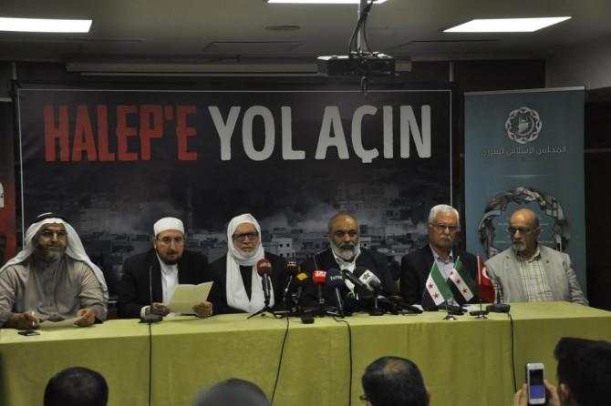 Suriye İslam Konseyinden 'Halep'e Yol Açın' çağrısı