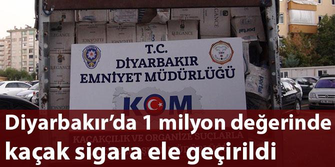 Diyarbakır'da 1 milyon değerinde kaçak sigara ele geçirildi