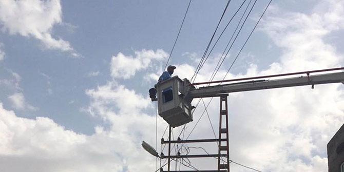 Mardin Savur'da elektrik kesintisi