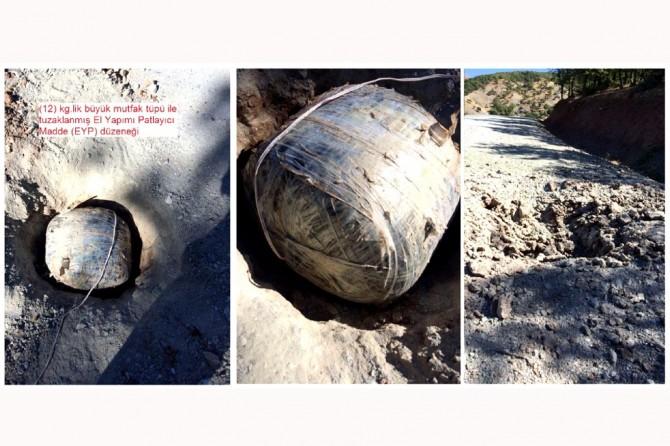 Diyarbakır Kulp'da tuzaklanmış bomba imha edildi