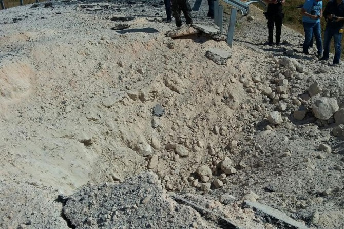 Dargeçit-Midyat Karayoluna tuzaklanan patlayıcı imha edildi