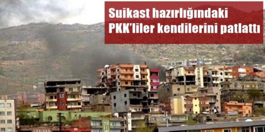 Cizre'de suikast hazırlığındaki PKK'liler kendilerini patlattı