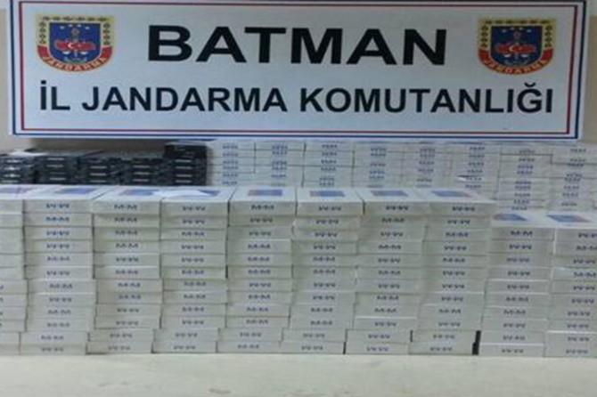 Batman'da yolcu treninde 25 bin TL değerinde kaçak sigara ele geçirildi