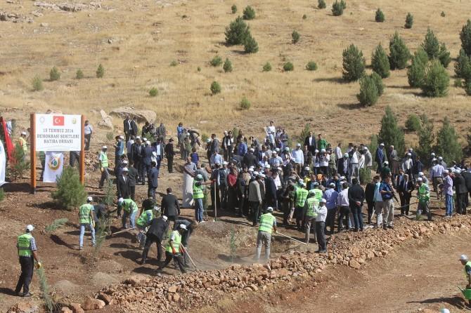 Mardin'de 15 Temmuz anısına hatıra ormanı oluşturuldu