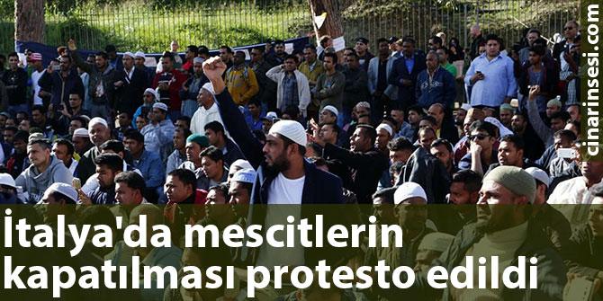 İtalya'da mescitlerin kapatılması protesto edildi