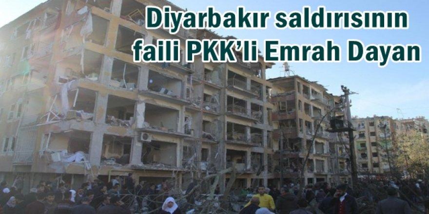 Diyarbakır saldırısının faili PKK'li Emrah Dayan