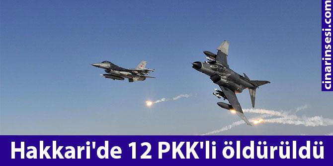 Hakkari Çukurca'da 12 PKK'li öldürüldü