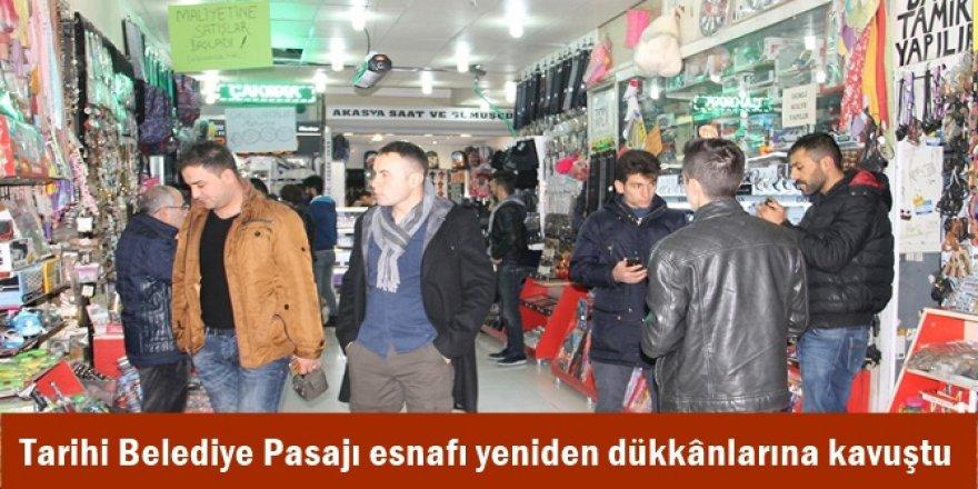 Tarihi Belediye Pasajı esnafı yeniden dükkânlarına kavuştu