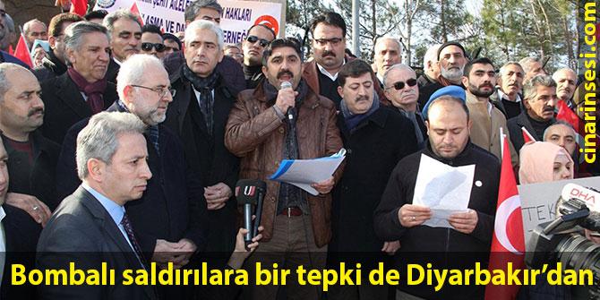 Bombalı saldırılara bir tepki de Diyarbakır'dan
