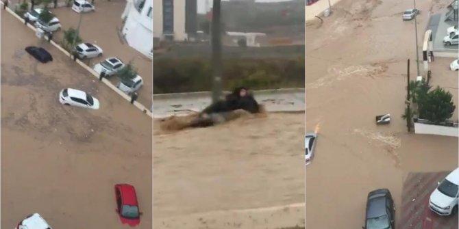 Mersin'de sel hayatı felç etti