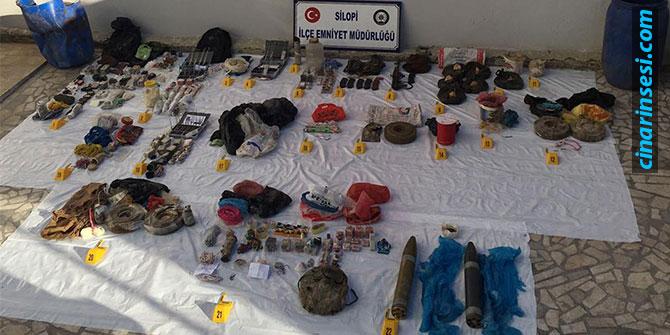 Şırnak Silopi'de PKK'ye ait çok sayıda mühimmat ele geçirildi