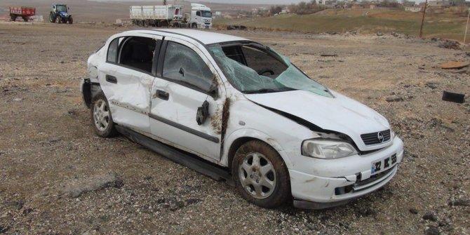 Çınar'da otomobil takla attı: 1 ölü VİDEO-FOTO