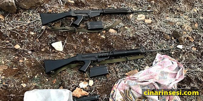 Çınar'ın Alancık (Guhanê) Köyünde silah ve mühimmat ele geçirildi