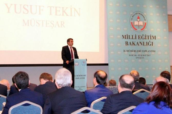 İl Milli Eğitim Müdürleri Toplantısı Antalya'da başladı