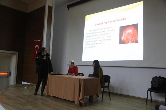 Kadınlara kanser semineri verildi