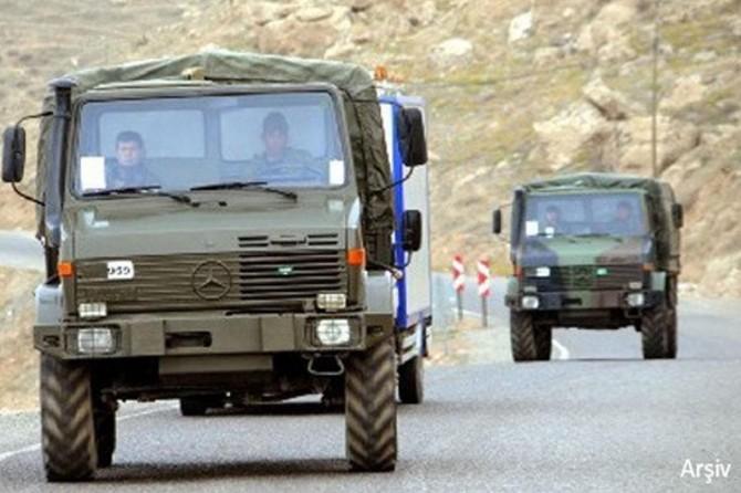 Askeri araçlar Suriye sınırına gönderildi