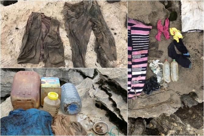 Batman Sason kırsalında PKK'ye ait 4 sığınak imha edildi
