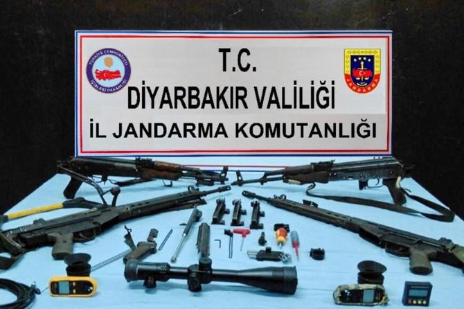 Lice'de PKK'lilere ait mühimmat ele geçirildi