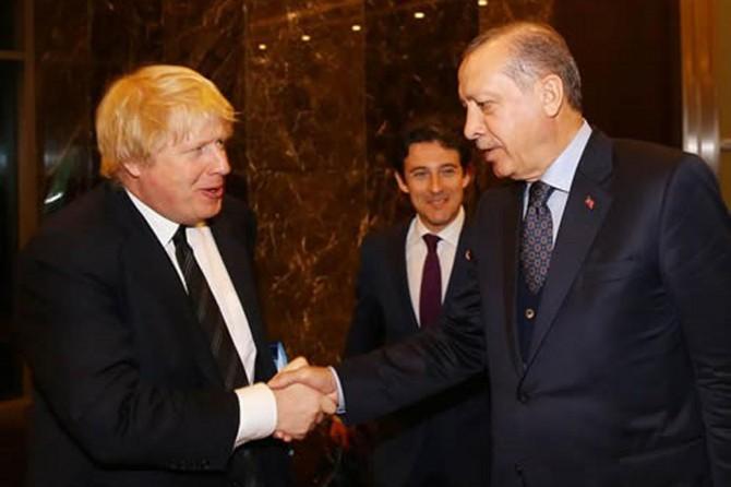 Cumhurbaşkanı Erdoğan İngiliz Bakan Johnson'la görüştü