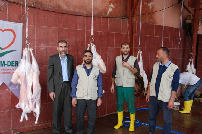Yetim-Der'den yüzlerce yetim aileye et yardımı
