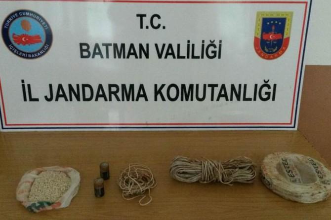 Batman'da PKK'ye ait patlayıcı ele geçirildi