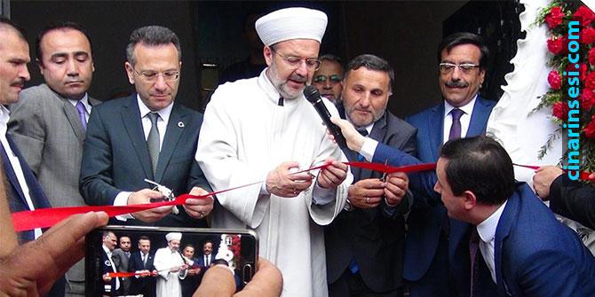 Diyanet İşleri Başkanı Mehmet Görmez Çınar'da açılış törenine katıldı