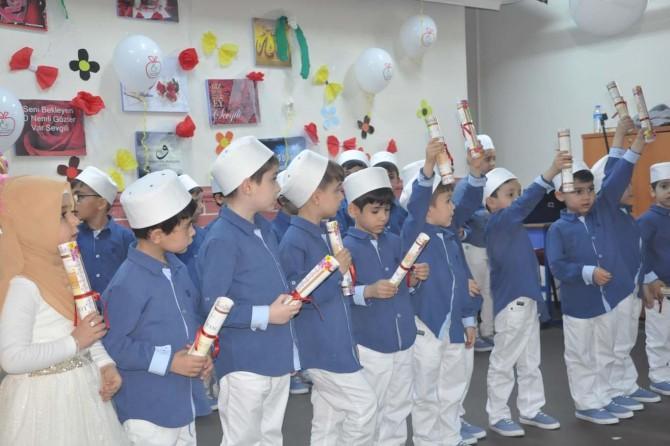 Kur'an-ı Kerim eğitimlerini tamamlayan miniklere diplomaları verildi