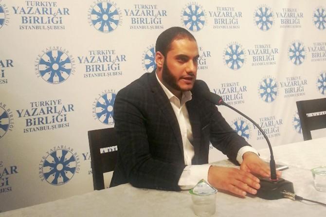 Gazzeli Kerim Alastal İstanbul'da Filistin temalı bir söyleşi gerçekleştirdi