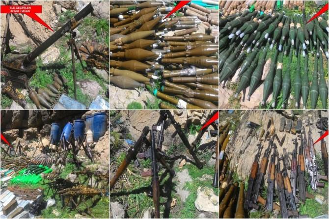 Şırnak Beytüşşebap Kato Dağı bölgesinde silah ve mühimmat ele geçirildi foto