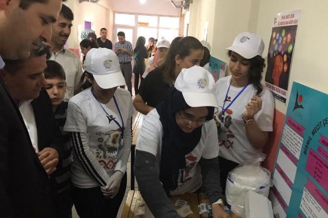 Bismil Mecit Çelik Kız Anadolu İHL öğrencilerinden bilim fuarı