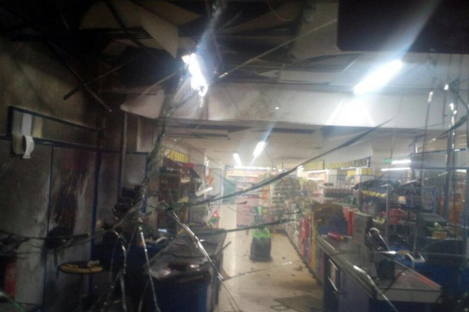 Diyarbakır Bağlar'da bir markete el yapımı patlayıcı atıldı
