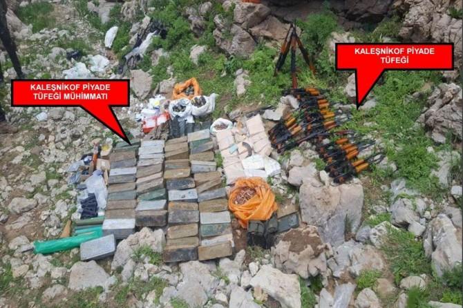 Kato Dağı'nda silah ve mühimmat ele geçirildi