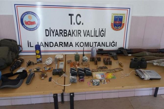 Diyarbakır Çermik'te PKK'ye ait mühimmat ele geçirildi