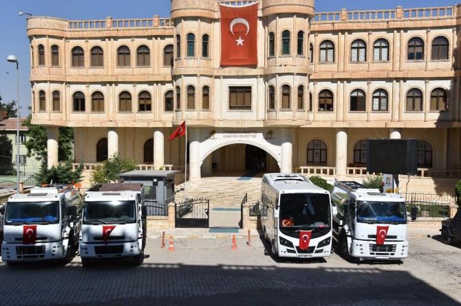 Kardeş belediyeden Nusaybin Belediyesine 4 araç hibe