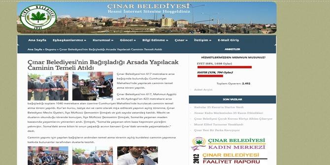 Çınar Belediyesi sitesinde de Kur-an kursu ifadesi geçiyor