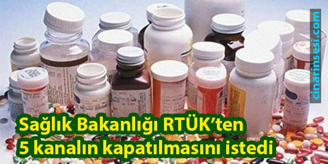 Sağlık Bakanlığı RTÜK'ten 5 kanalın kapatılmasını istedi